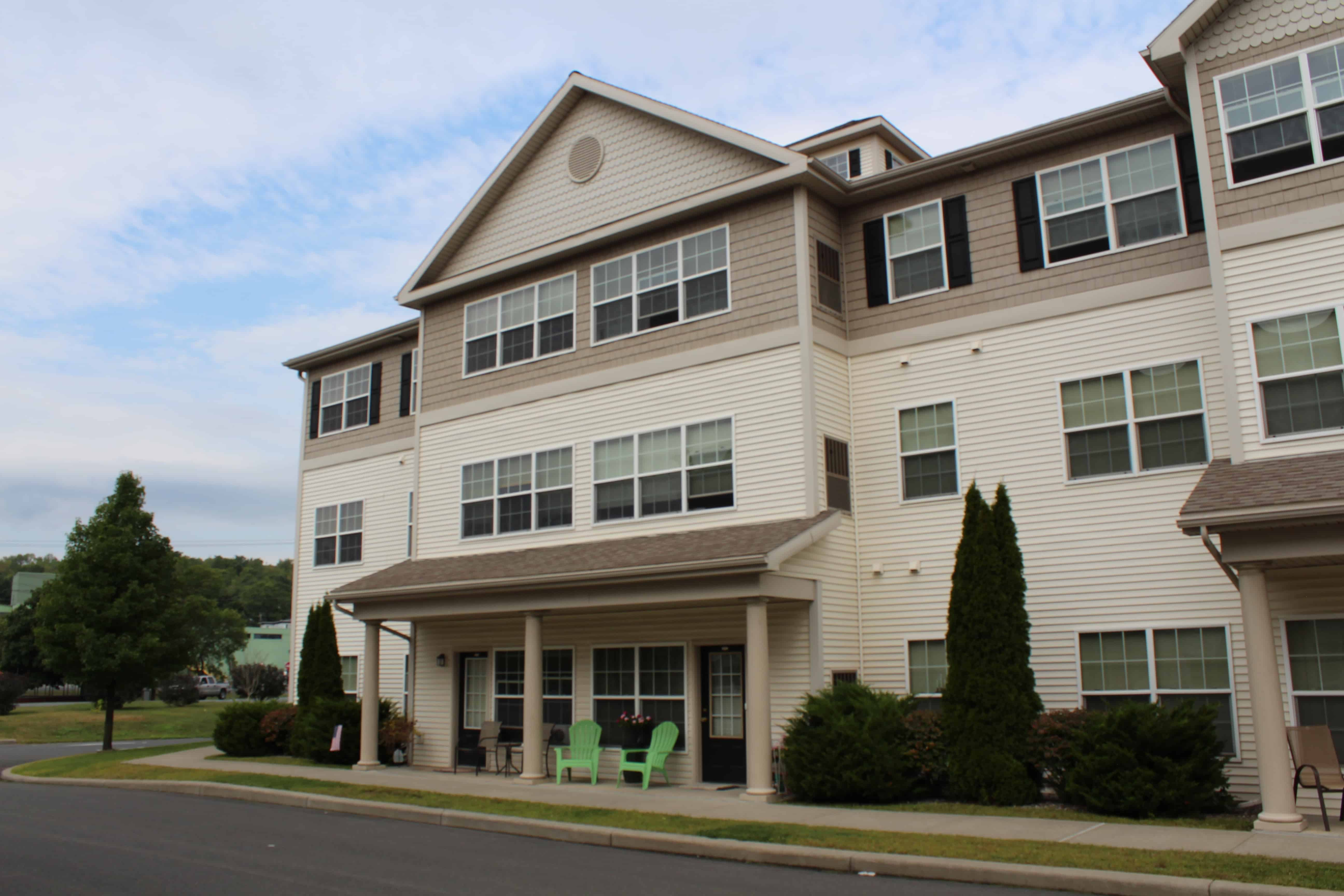 Front of Building, Waterside Apartments, Cohoes, New York